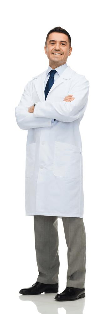 dentist in smiling pose
